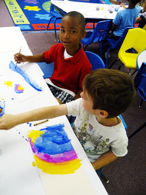 Classroom painting for dance anywhere.